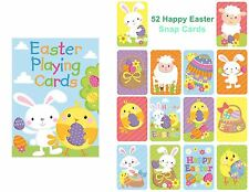 Happy Easter Playing Cards Party Gift Bag Filler Snap Toy Children Family Game