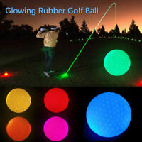Glowing Night Golf Course Training Accessories Led Glowing Rubber Golf Ball