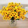 14 Kunstpflanze Kunstblume Künstliche Kunst Sonnenblume Blüten Seidenblumen Pro.
