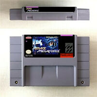 New Space Megaforce Game Card Console For Nintendo SNES US Version 16 Bit Englis