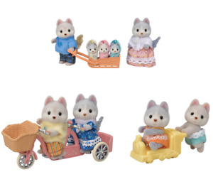 Pre-order Sylvanian Families HUSKY DOG FAMILY Epoch Japan 2021 Calico Critters