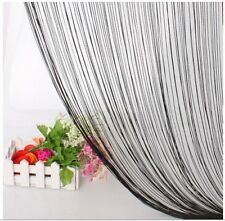 CLEARANCE Fringe String Curtain - Black FREE SHIPPING