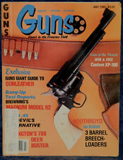 Magazine *GUNS* July, 1981 !!! HECKLER & KOCH Model VP-70 Machine PISTOL !!!