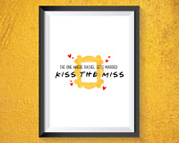 Kiss the miss - FRIENDS themed hen party - keepsake - hen party game - FREE P&P