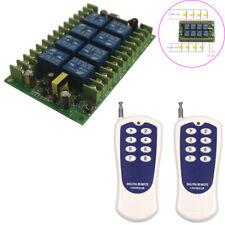 110V Interruptor de control remoto de radio frecuencia Inalámbrico Interruptor 110V 8 canal receptor inteligente Board
