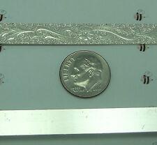 8.3mm x .82 mm 20 gauge Sterling Silver Wire Strip FLORAL Bezel Wrap 1 Foot