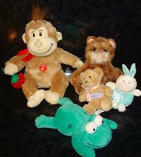 x5 Lot RUSS Berrie PLUSH DOLL Skeets Frog Whiskers Monkey Rabbit Teddy Bear Toys