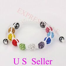 Hot Sale Beaded Multicolor Crystal Disco Ball Shamballa Bracelet buy 2 get1 free