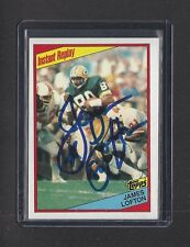 PACKERS James Lofton signed Topps card AUTOGRAPHED HOF 1984