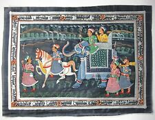 Original Painting.Handmade,Organic Madhubani Painting From India.USA (Item#11)