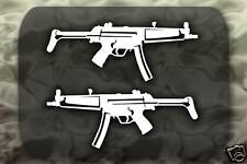 MP5A3 Machine Gun decal 2 Stickers MP5