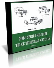 M880 Military Truck Technical Manuals on CD