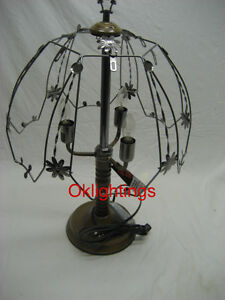 Touch lamp 24 inch Frame top and bottom base dark oak color or brown
