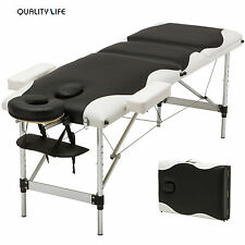3 Fold Portable Aluminum Massage Table Facial Spa/Tattoo Bed with Carry Case