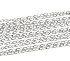 6M Silver Tone Curb Chain - Open Link Size 5.5 x 3.5mm Jewellery Making J13009K