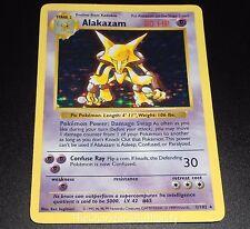 Alakazam 1/102 SHADOWLESS Base Set HOLO Rare Pokemon Card EXCELLENT-PLAYED