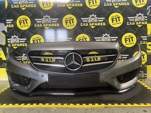 MERCEDES BENZ C-CLASS W205 COMPLETE AMG FRONT BUMPER NIGHT PACKAGE