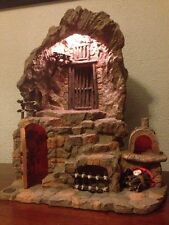 """Fontanini Manger Scene Nativity Lighted Grotto Cave For 5"""" Figurines BEST OFFER"""