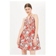 Sleeveless Floral Jacquard Mini Dress Sz 4