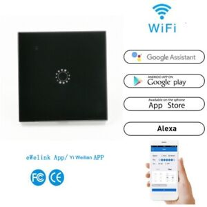 ewelink 1/2/3Gang Home Smart WiFi Wall Light Switch Touch Panel for Alexa Google
