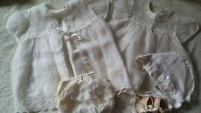 Vintage Baby Christening Dress Outfit Ivory Madonna Original Bonnet Shoes Socks