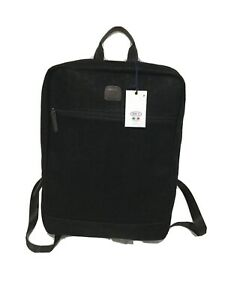 New Bric's Milano Italian Black Leather Suede BackpackTravel Luggage
