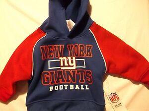 NFL Team Apparel New York Giants Hoodie Sweatshirt Choice 12 Month NWT