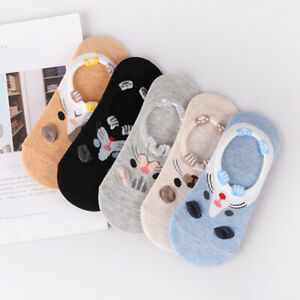 Women Summer Cotton Ankle Socks Low Cut Invisible Casual Dress Crew Boat Socks
