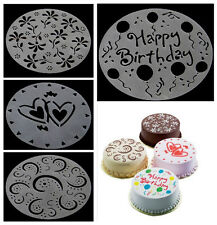 Eco Friendly Flower Heart Cake Print Stencils Mold Decorating Bakery Tools