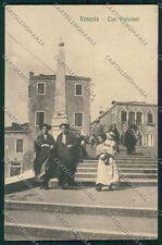Venezia città TRACCE UMIDO cartolina QK2645