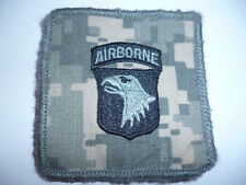 US ARMY 101ST AIRBORNE ACU HELMET CLOTH PATCH.