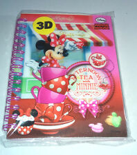 Disney's MINNIE MOUSE 3D COVER NOTEBOOK Wiro AFTERNOON TEA Pink Decorated Pages