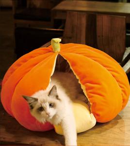 Small pet Cat Dog Bed House Fruits model Soft Warm Velvet Nesting