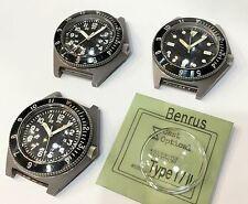 Benrus Military Type 1/ Type 2 Watch Plastic Crystal  Perfectly Fit !