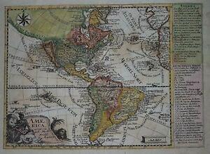1784 AMERICA ORIGINAL MAP BY PROBST