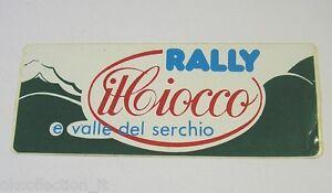 VECCHIO ADESIVO / Old Sticker RALLY IL CIOCCO E VALLE DEL SERCHIO (cm 14 x 5)