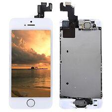 Blanc Pour iPhone 5S COMPLET ÉCRAN LCD CHASSIS VITRE TACTILE BOUTON HOME CAMÉRA