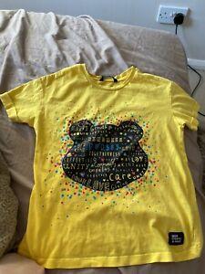 Kids Girl /boy Pudsey Bear Children In Need T-shirt Age 8-9