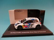VOLKSWAGEN POLO WRC #2 LATVALA - RALLY FRANCE 2014  1/43 NEW IXO WHITEBOX WBR013