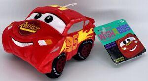 "Disney Parks Wishables Lightning McQueen Cars Land Series Plush 4"""
