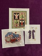 HandPainted Needlepoint Canvas Lot of 3 Designer Canvases