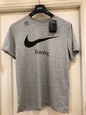 Nike dry-fit men's running t shirt brand new with tags size medium colour grey