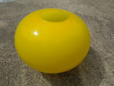 "Vintage Modern Light Globe Fixture Canary Yellow Oval 39"" diameter 8.25"" tall"