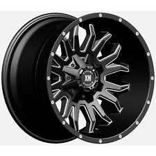 20x10 Xtreme Mudder XM 311 Wheels Black Milled Offroad Rims 35 Tires Fits Jeep