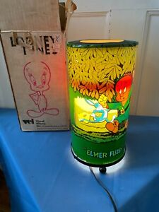 1970 Looney Tunes Visual Effects Motion Revolving Lamp VTG Bugs Bunny NOS w/ Box