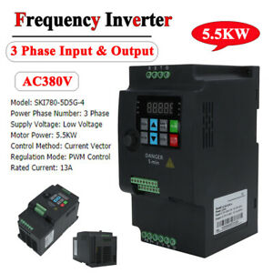 5.5kw VFD Variable Frequency Converter Drive Inverter 380V 3 Phase Input/Output