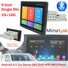 "9"" 1Din Android8.1 Car Stereo FM GPS DVD Video WiFi 1+16G Player Fit for BMW GMC"