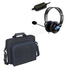 PlayStation 4 Deluxe Headset with Mic Volume Control and PS4 Console Carry Case