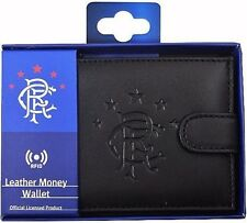 Rangers RFID Anti Fraud Black Leather Wallet Boxed Official Product