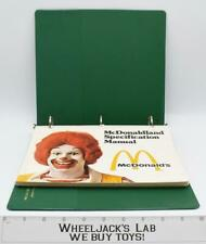 Mcdonaldland Specification Manual Mcdonald's 1980's Licensees Ad Style Guide